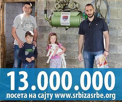 13 милиона посета на СЗС сајту