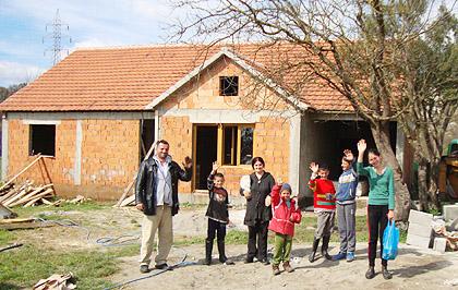 Радови на изградњи куће у Црној Гори