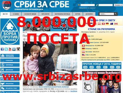 Преко 8.000.000 посета на СЗС сајту