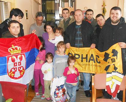 Срби за Србе - Божићна акција у Нишу