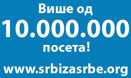 10 милиона посета на СЗС сајту!