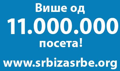 11 милиона посета на СЗС сајту!